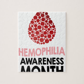 Hemophilia Awareness Month - Appreciation Day Jigsaw Puzzle
