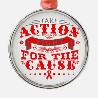 Hemophilia Take Action Fight For The Cause Christmas Tree Ornament
