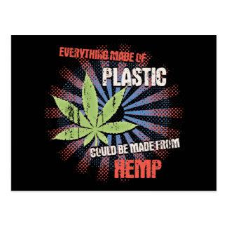 Hemp Plastic Postcard