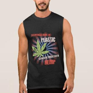 Hemp Plastic Sleeveless Shirts