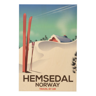 Hemsedal Norway Ski travel poster