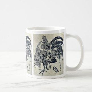 Hen and chick by Utagawa, Toyohiro Ukiyoe Coffee Mug