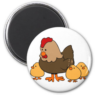 Hen and Chicks Magnet