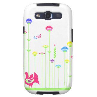 Hen and flower BlackBerry Samsung Galaxy Case Samsung Galaxy SIII Case