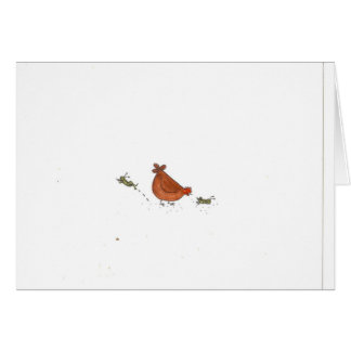 Hen And Grasshopper Card