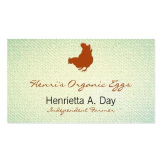 Hen [chicken, farmer, organic eggs] Textured Look Pack Of Standard Business Cards