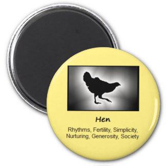 Hen Chicken Totem Animal Spirit Meaning 6 Cm Round Magnet