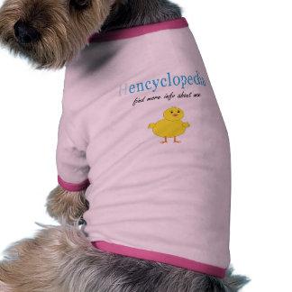 Hen Encyclopedia Dog T-shirt