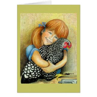 Hen Hugger Greeting Card