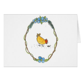 Hen In Border Card