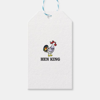 hen king rooster gift tags