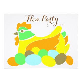 Hen Party 14 Cm X 19 Cm Invitation Card