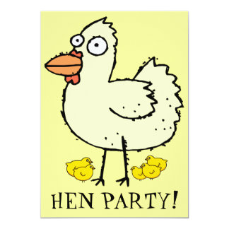 Hen Party! Chicks and Hens Bachelorette Invite