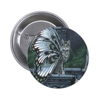 Henbane Winged Cat Button