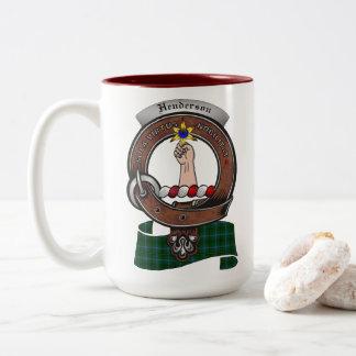 Henderson Clan Badge Two Tone 15oz Mug