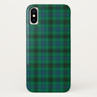 Henderson Clan Bright Green, Blue and Black Tartan iPhone X Case