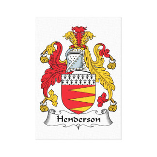 Henderson Family Crest Canvas Print