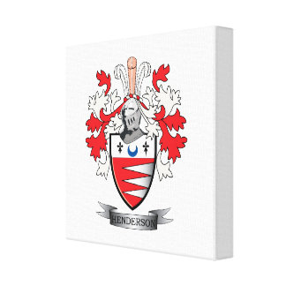 Henderson Family Crest Coat of Arms Canvas Print