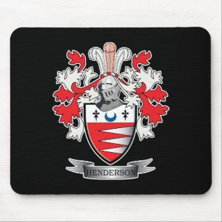 Henderson Family Crest Coat of Arms Mouse Pad