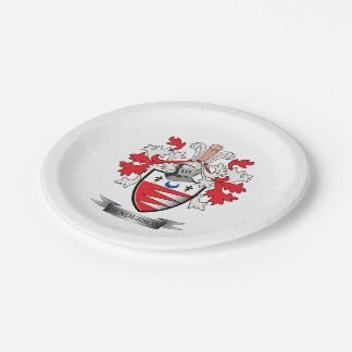 Henderson Family Crest Coat of Arms Paper Plate