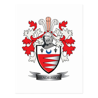 Henderson Family Crest Coat of Arms Postcard