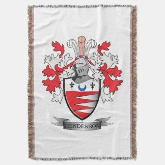 Henderson Family Crest Coat of Arms Throw Blanket