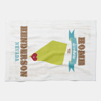 Henderson, Nevada Map – Home Is Where The Heart Is Tea Towel