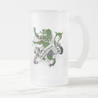 Henderson Tartan Lion Frosted Glass Beer Mug