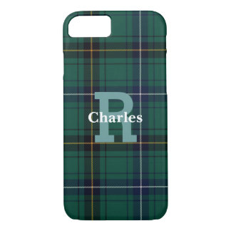 Henderson Tartan Plaid Monogrammed iPhone 7/8 Case