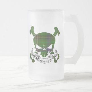 Henderson Tartan Skull Frosted Glass Mug