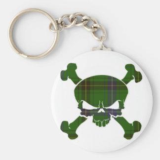 Henderson Tartan Skull No Banner Basic Round Button Key Ring