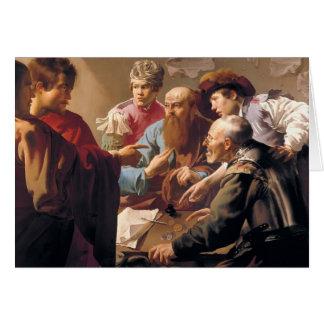Hendrick Terbrugghen- The Calling of St. Matthew Greeting Card