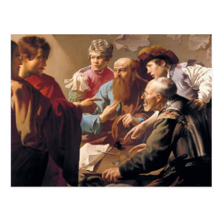 Hendrick Terbrugghen- The Calling of St. Matthew Postcard