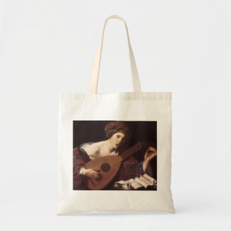 Hendrick Terbrugghen- Woman Playing the Lute Tote Bag