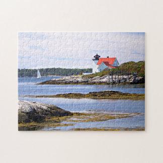 Hendricks Head Lighthouse, Southport Island Maine Jigsaw Puzzle