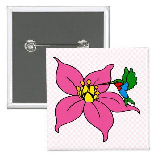 Hendry Hummingbird Pinback Button
