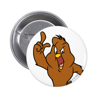 Henery Hawk Yelling 6 Cm Round Badge