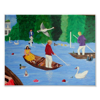 Henley Regatta Fun Poster Print Large