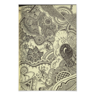 Henna Art Canvas Print