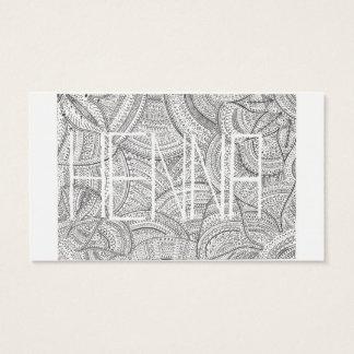 Henna Artist Business Card