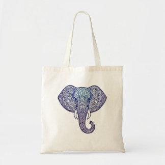 Henna Elephant Art Tote Bag