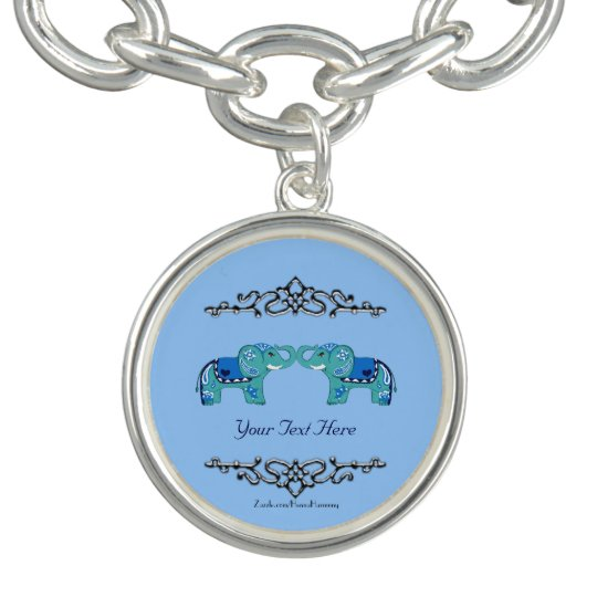 Henna Elephant (Blue/Light Blue)