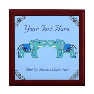 Henna Elephant (Blue/Light Blue) Gift Box