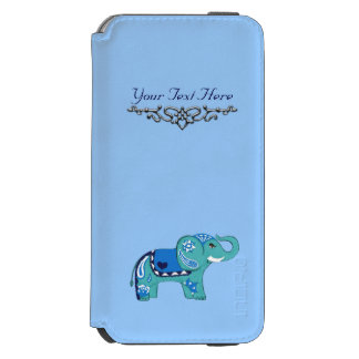 Henna Elephant (Blue/Light Blue) Incipio Watson™ iPhone 6 Wallet Case