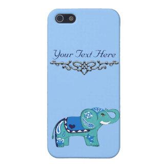 Henna Elephant (Blue/Light Blue) iPhone 5/5S Case