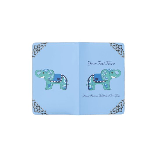 Henna Elephant (Blue/Light Blue) Pocket Moleskine Notebook