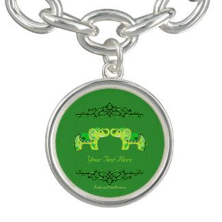 Henna Elephant (Green/Lime Green)