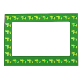Henna Elephant (Green/Lime Green) Magnetic Frame
