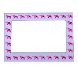 Henna Elephant (Pink/Purple) Magnetic Frame