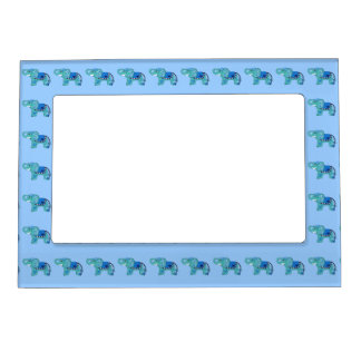 Henna Elephant (Pink/Purple) Magnetic Picture Frame
